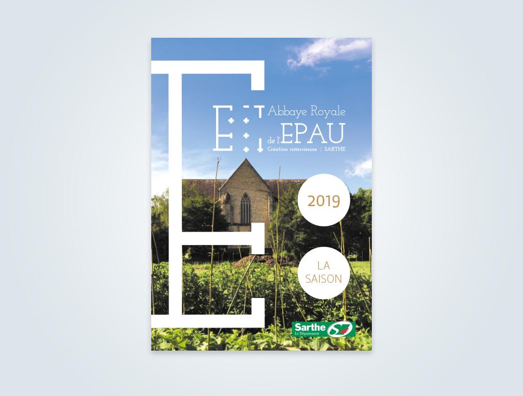 Agence de communication A Tribu Le Mans 72 Sarthe Pays-de-la-Loire — Abbaye Royale de l'Épau programme saison 2019