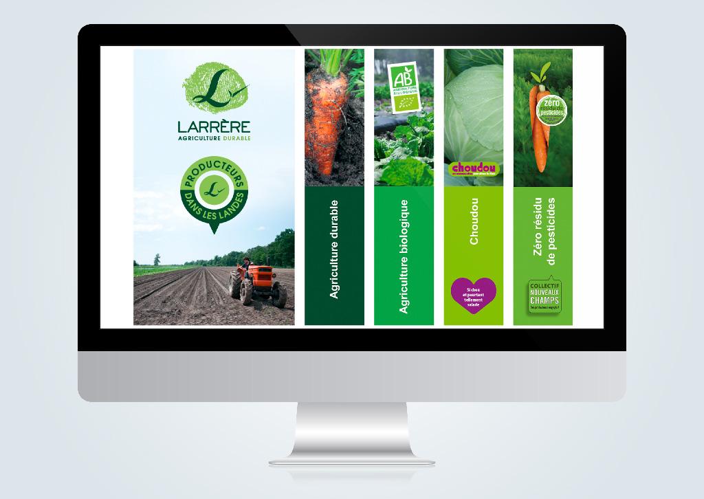 Agence de communication A Tribu Le Mans 72 Sarthe Pays-de-la-Loire — Les Fermes Larrère site Web
