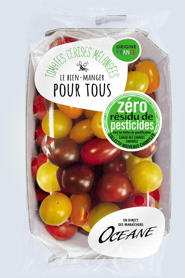 Agence de communication A Tribu Le Mans 72 Sarthe Pays-de-la-Loire — Océane maraîcher Nantes packaging barquette tomate cerise