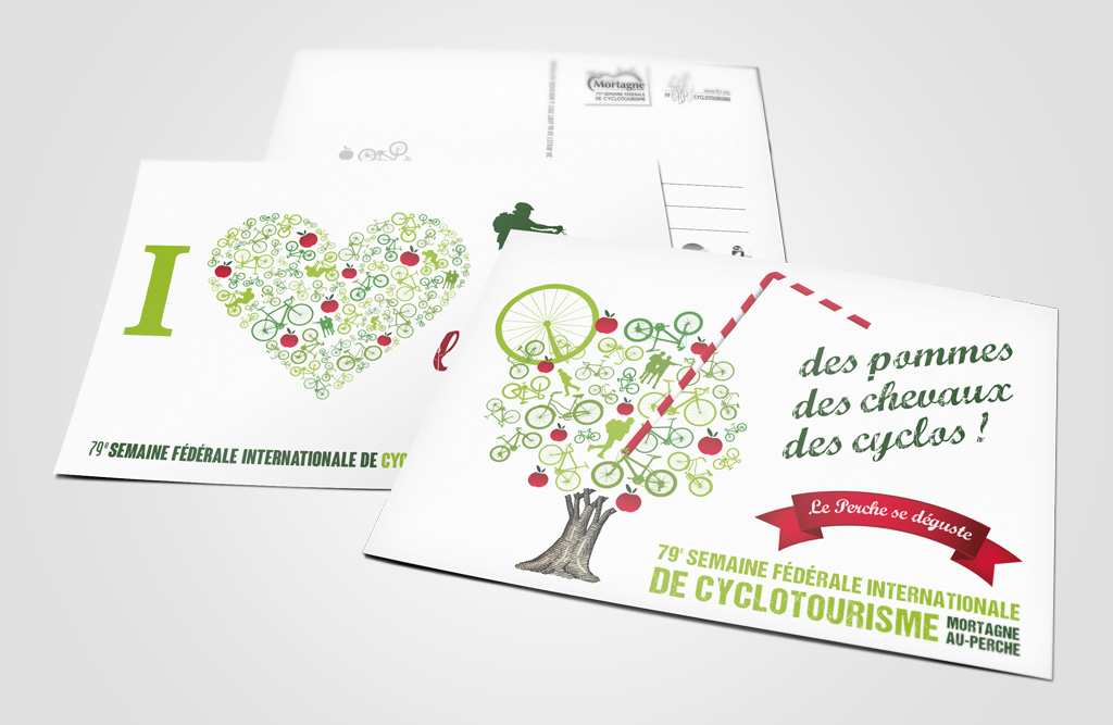 Agence de communication A Tribu Le Mans 72 Sarthe Pays-de-la-Loire — Semaine fédérale de cyclotourisme 2017 cartes postales