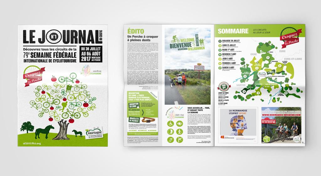 Agence de communication A Tribu Le Mans 72 Sarthe Pays-de-la-Loire — Semaine fédérale de cyclotourisme 2017 journal