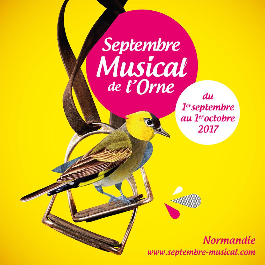 Agence de communication A Tribu Le Mans 72 Sarthe Pays-de-la-Loire — Septembre Musical de l'Orne programme saison 2017