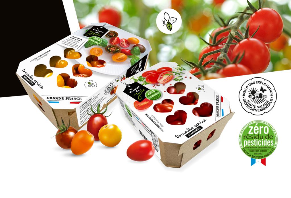 Design emballage carton tomates Agence A tribu Le Mans