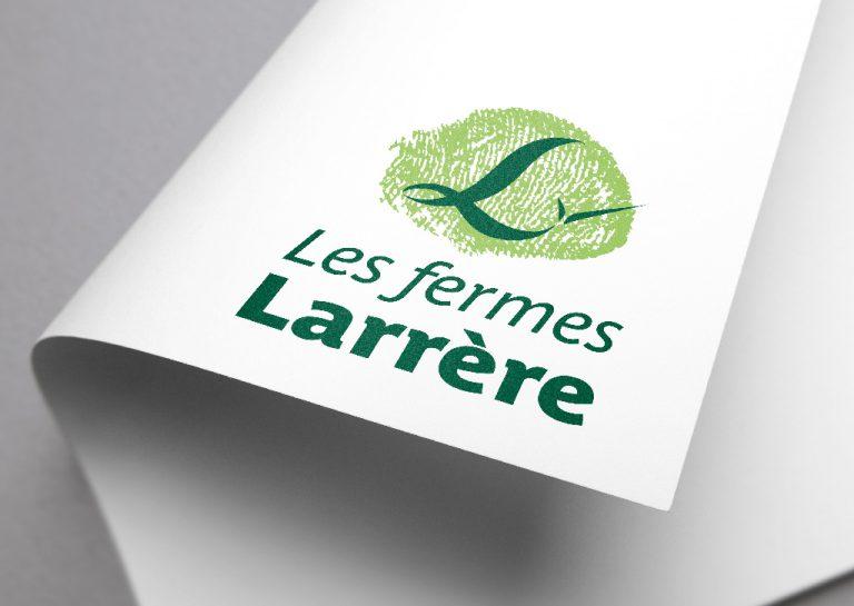 Agence de communication A Tribu Le Mans 72 Sarthe Pays-de-la-Loire — Les Fermes Larrère logo