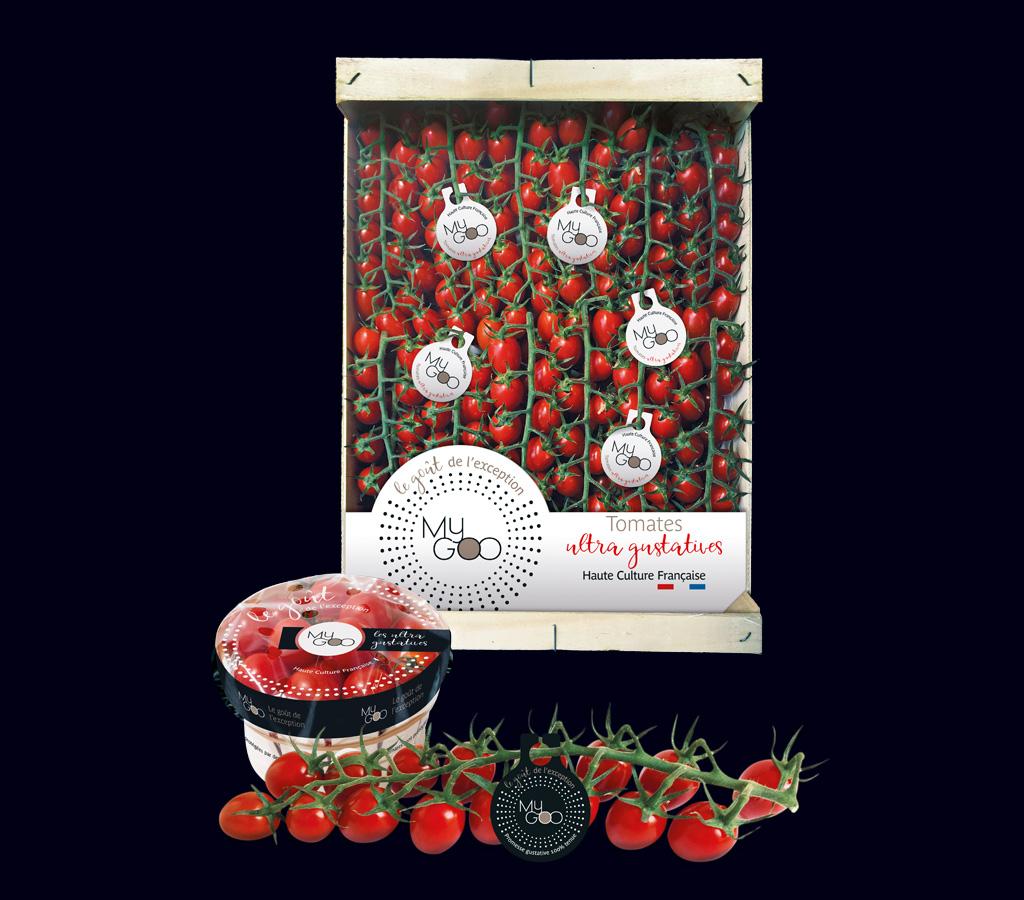 Agence de communication A Tribu Le Mans 72 Sarthe Pays-de-la-Loire — My GOO packaging tomate