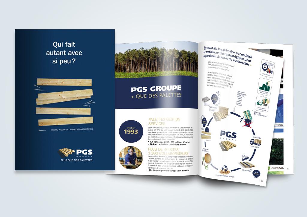 Agence de communication A Tribu Le Mans 72 Sarthe Pays-de-la-Loire — Catalogue 2018 PGS groupe